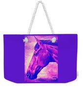 horse portrait PRINCETON pink Weekender Tote Bag
