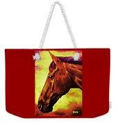 horse portrait PRINCETON purple brown yellow Weekender Tote Bag