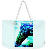 horse portrait PRINCETON really blue Weekender Tote Bag