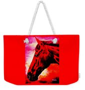 horse portrait PRINCETON red hot Weekender Tote Bag