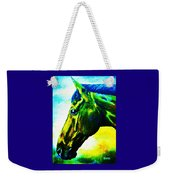 horse portrait PRINCETON vibrant yellow and blue Weekender Tote Bag