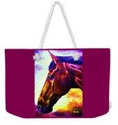 horse portrait PRINCETON wow purples Weekender Tote Bag