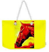horse portrait PRINCETON yellow and red Weekender Tote Bag