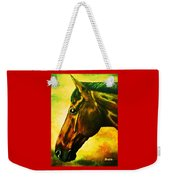 horse portrait PRINCETON yellow Weekender Tote Bag
