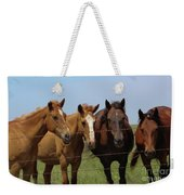 Horse Quartet Weekender Tote Bag