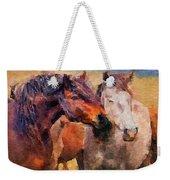 Horse Snuggle Weekender Tote Bag