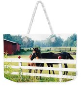 Horse Stable Weekender Tote Bag