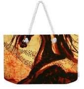 Horse Through Web Of Fire Weekender Tote Bag