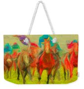 Horse Tracking Weekender Tote Bag