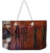Horse Trainer - Jingle Bells Weekender Tote Bag by Mike Savad