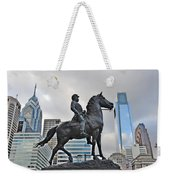 Horseman Between Sky Scrapers Weekender Tote Bag