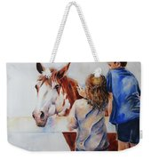 Horses And Children Painting Weekender Tote Bag