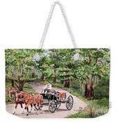 Horses And Wagon Weekender Tote Bag