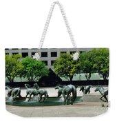 Horses At William Square  Weekender Tote Bag