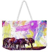 Horses Flock Pasture Animal  Weekender Tote Bag