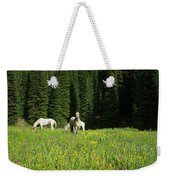 Horses Getting A Break Weekender Tote Bag