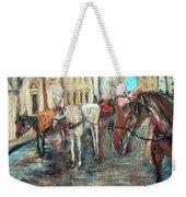 Horses In Florence Weekender Tote Bag