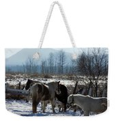 Horses In Front Of Quaggy Jo Weekender Tote Bag