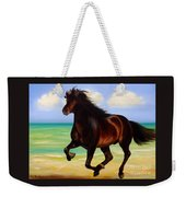 Horses In Paradise  Run Weekender Tote Bag