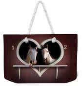 Horses In Stable Weekender Tote Bag