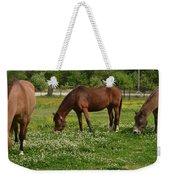 Horses In The Meadow 2 Weekender Tote Bag
