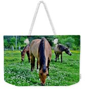 Horses In The Meadow Weekender Tote Bag