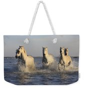 Horses In Water Weekender Tote Bag