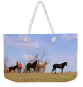 Horses On The Hill Weekender Tote Bag