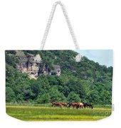 Horses On The Rubideaux Weekender Tote Bag