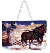 Horses Pulling Log Weekender Tote Bag