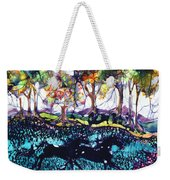 Horses Running Below Hills Weekender Tote Bag