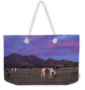 Horses With New Mexico Sunset Weekender Tote Bag
