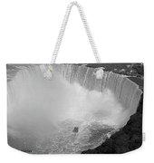 Horseshoe Falls Black And White Weekender Tote Bag