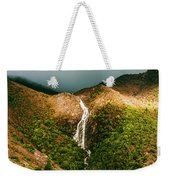 Horsetail Falls In Queenstown Tasmania Weekender Tote Bag
