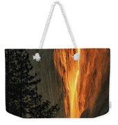 Horsetail Falls In Yosemite National Park Weekender Tote Bag