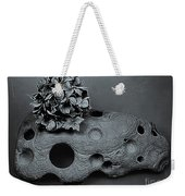 Hortensia Stone Circle Of Life Bw Weekender Tote Bag