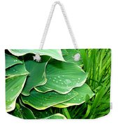 Hosta Leaves And Waterdrops Weekender Tote Bag