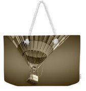 Hot Air Balloon And Bucket In Sepia Tone Weekender Tote Bag