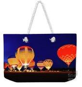 Hot Air Balloon Night Glow Weekender Tote Bag