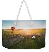 Hot Air Balloon Taking Off At Sunrise Weekender Tote Bag