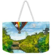 Hot Air Balloon Woodstock Vermont Pencil Weekender Tote Bag