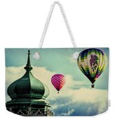 Hot Air Balloons Float Over Lewiston Maine Weekender Tote Bag