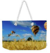 Hot Air Balloons Over A Wheat Field Weekender Tote Bag