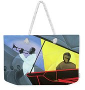 Hot And Cool Jazz Weekender Tote Bag by Kaaria Mucherera