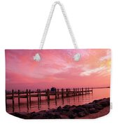 Hot Bay Sunset Weekender Tote Bag