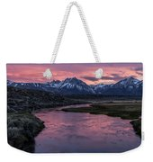 Hot Creek Sunset Weekender Tote Bag