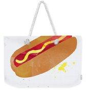 Hot Dog Weekender Tote Bag by Linda Woods