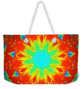 Hot Kaleidoscope Flower Weekender Tote Bag
