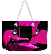Hot Pink 33  Weekender Tote Bag