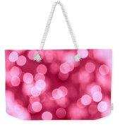 Hot Pink Bokeh Weekender Tote Bag